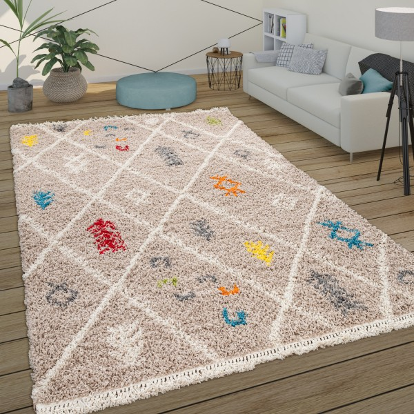 Tapis Shaggy Salon Poils Longs Tapis Scandinave