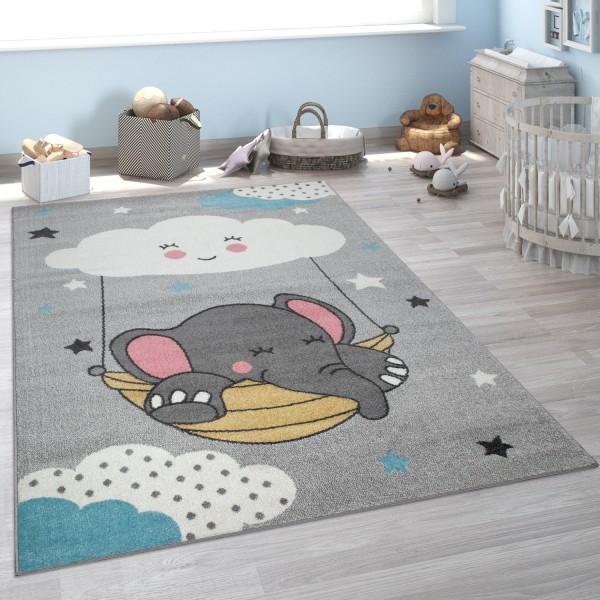 Tapis Pour Enfant Chambre D'Enfant Éléphant Nuage