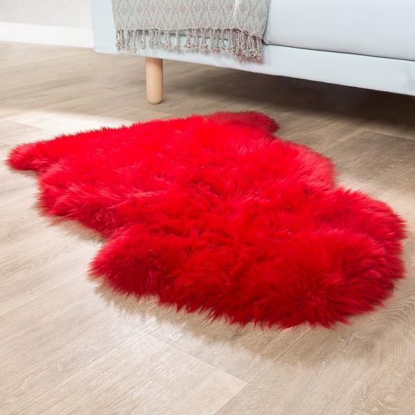 Australisches Lammfell Naturfell Bettvorleger Echtes Schaffell In Rot