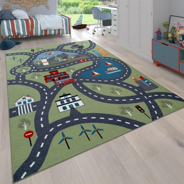 Tapis Jeux Chambre Enfant Design Urbain Coloré